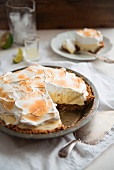 Key lime pie (lime tart topped with meringue)