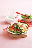 Couscoussalat mit Lamm und Gemüse