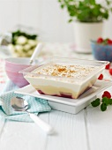 Trifle with raspberries and sherry