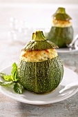Zucchine ripiene (stuffed courgettes, Italy)