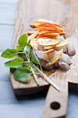 Tartar of sea bass with nectarines