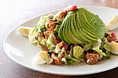 Crispy Chicken Salad with Avocado and Hard Boiled Egg