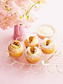 Cupcakes with orange and passion fruit
