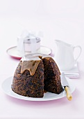Figgy pudding with butterscotch sauce