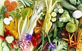 Assorted vegetables (filling the image)