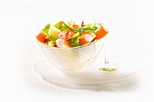 Surimi salad with dill