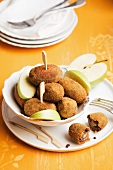 Black pudding croquettes with apple