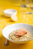 Quinoa risotto with salmon