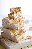 Stacked turrón (Spanish nougat)