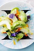 Green Salad with Edible Blossoms