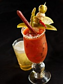 Bloody Mary with Assorted Garnishes