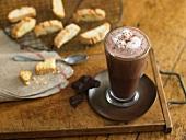 Hot chocolate with biscotti