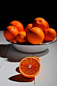 Oranges in a bowl