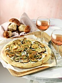 Porcini mushroom pizza