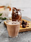 Chocolate and peanut smoothie