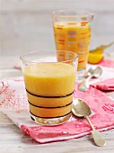 Orange, peach and pineapple drink