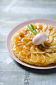 Tarte tatin with white turnips