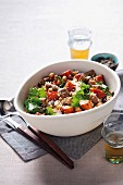 Warm lamb salad with couscous