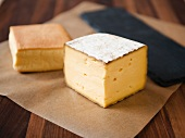 Mahon Spanish Cows Milk Cheese on Paper