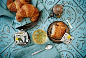 Green Tea and Croissants