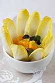 Chicory salad with oranges and wakame