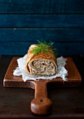 Rolled Dill Omelet with Mushrooms and Ricotta