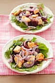 Beetroot salad with chicken