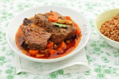Pot-roast beef with carrots