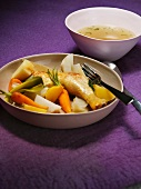 Pot au feu with chicken