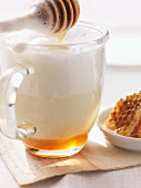 Hot milk with honey