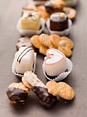 Assorted biscuits and petits fours