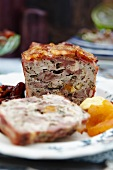 Duck pâté with apricots