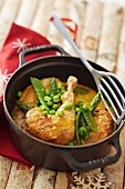 Chicken fricassee with Comte cheese
