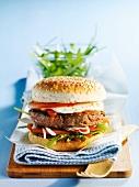 Hamburger with mozzarella