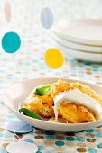 Potato fritters with yoghurt sauce
