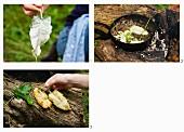 Wild herb tempura