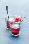 Fruit punch with cherries