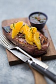Duck breast fillet with oranges