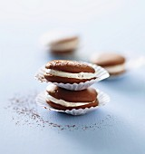 Whoopie pies with cocoa powder