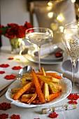 Gebratene Möhren und Pastinaken mit Honigglasur zu Weihnachten