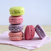 Colored Macaroons on a Platter