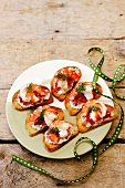 Prawn and tomato salsa toasts
