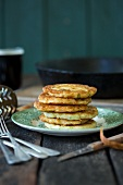 Stacked boxty (Irish potato fritters)