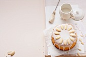 Torta di mandorle (almond cake with lemon icing)