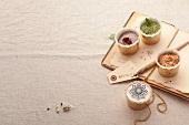 Assorted salt mixtures as gifts