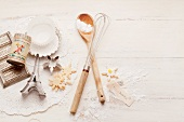 A still life of baking utensils