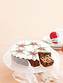 A festive Christmas cake