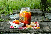Sweet and sour pickled peppers