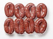 Packaged Grützwurst (blood sausages from Germany)