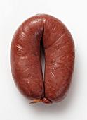 A Grützwurst (blood sausage from Germany)